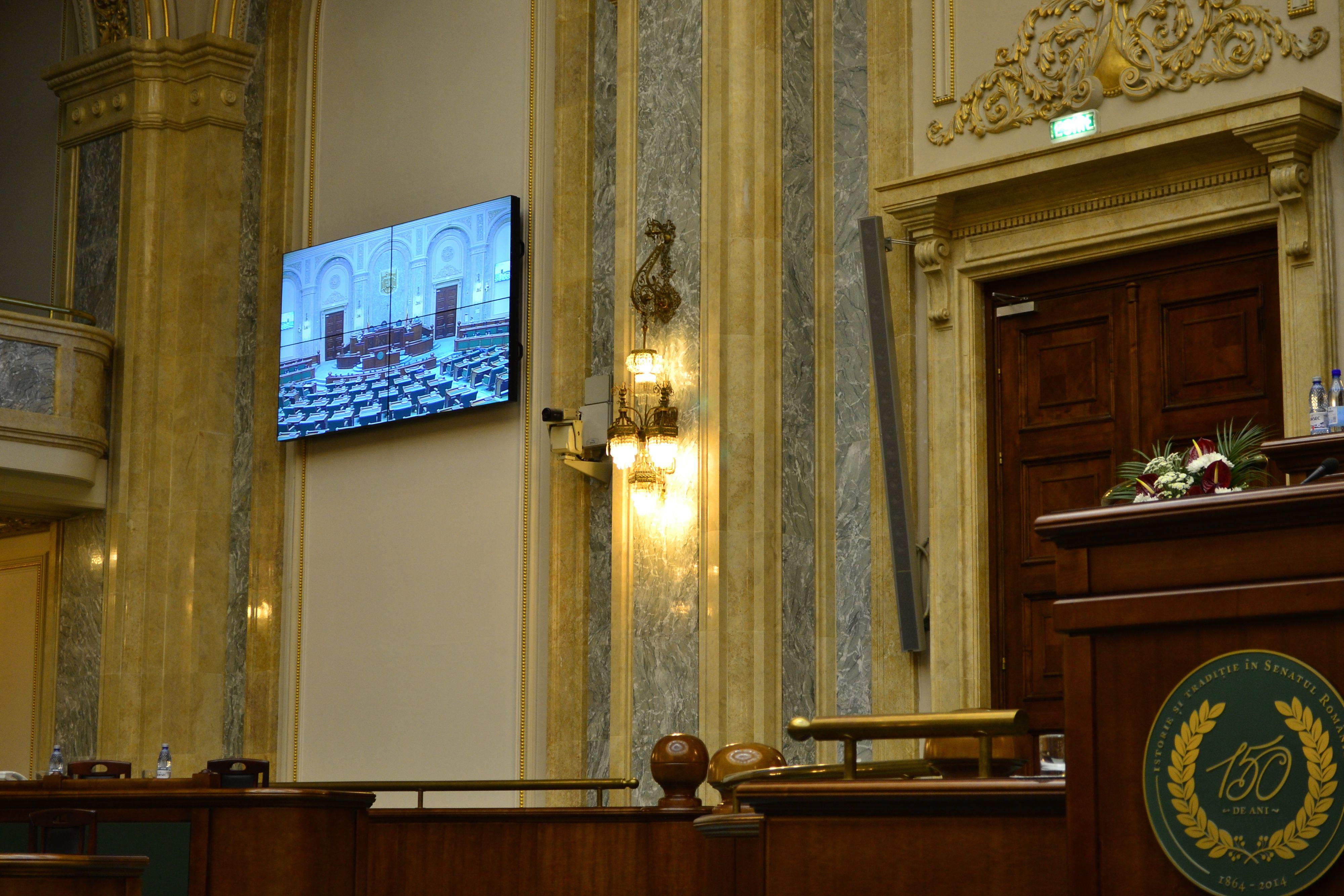 Proiecte Aniva – Senatul României – sistem integrat de înregistrare și transmitere video a ședințelor